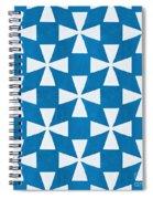 Blue Twirl Spiral Notebook