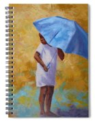 Blue Umbrella Spiral Notebook