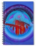 Blue Untitled Image Spiral Notebook