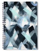 Blue Valentine- Abstract Painting Spiral Notebook