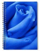 Blue Velvet Rose Flower Spiral Notebook