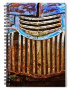 Blue Vintage Car Spiral Notebook
