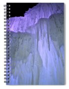 Blue Violet Ice Mountain Spiral Notebook