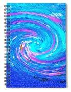 Blue Vortex Abstract 2 Intense Spiral Notebook