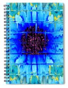 Blue Wallflower Abstract Spiral Notebook