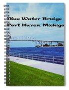 Blue Water Bridge Spiral Notebook