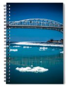 Blue Water Bridge Reflection Spiral Notebook
