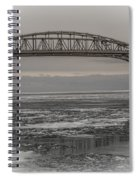 Blue Water Bridges Spiral Notebook