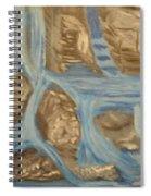 Blue Water Dancing  Spiral Notebook
