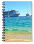 Blue Waters Of Cabo Spiral Notebook