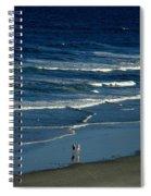 Blue Wave Walking Spiral Notebook