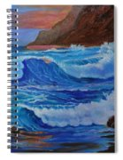 Blue Waves Hawaii Spiral Notebook