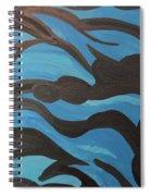 Blue Waves Of Healing Spiral Notebook