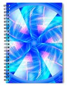 Blue Wheel Inflamed Abstract Spiral Notebook