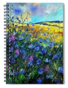 Blue Wild Chicorees Spiral Notebook