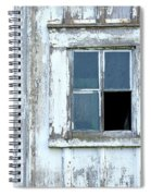 Blue Window In Weathered Wall Spiral Notebook