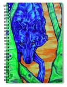 Blue Wolf Spiral Notebook