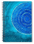 Blue World Original Painting Spiral Notebook