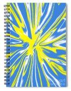 Blue Yellow White Swirl Spiral Notebook