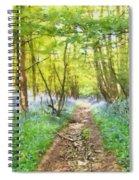 Bluebell Wood Watercolour Spiral Notebook