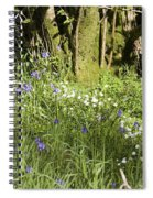 Bluebells And Greater Stitchwort Spring  Boot Eskdale Cumbria England Spiral Notebook
