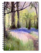 Bluebells At Dusk Spiral Notebook