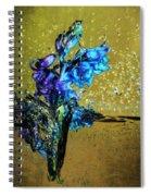 Bluebells In Water Splash Spiral Notebook