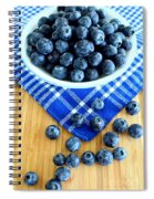 Blueberries And Blue Napkin Spiral Notebook