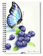 Blueberries And Butterfly Spiral Notebook