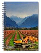 Blueberry Field Excavator Spiral Notebook
