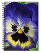 Blueberry Pansy Spiral Notebook