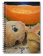 Blueberry Scones And Cantaloupe Spiral Notebook