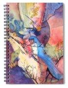 Bluebird And Butterflies Spiral Notebook