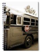 Bluebird Bus Limo 3 Spiral Notebook