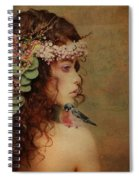 Bluebird On My Shoulder Vintage Spiral Notebook