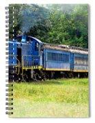 Bluebird Train Spiral Notebook