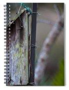 Bluebird With Nest Material In Beak Spiral Notebook