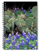 Bluebonnets And Cacti Spiral Notebook