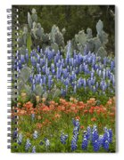 Bluebonnets Paintbrush And Prickly Pear Spiral Notebook