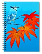 Bluejay In The Fall 2 Spiral Notebook