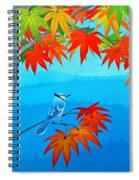 Bluejay In The Fall Spiral Notebook