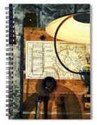 Blueprint Of Gear Spiral Notebook