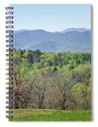 Blueridge Mountains In The Spring Spiral Notebook