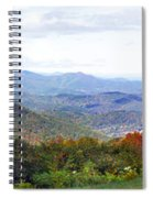 Blueridge Parkway View 2 At Mm 404  Spiral Notebook