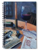 Blues And Wine Spiral Notebook