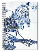Blues In Blue Spiral Notebook