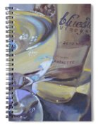 Bluestone Traminette And Glass Spiral Notebook