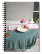 Blur Bottle And Peony And Background Spiral Notebook