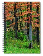 Blustery October Weather Spiral Notebook