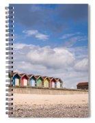 Blyth Beach Huts Spiral Notebook